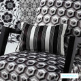 Australian made drapery fabrics from the Monochrome Gracia design style range from Warwick
