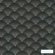 Warwick Monochrome Christo Platinum  | Upholstery Fabric - Grey, Art Deco, Black - Charcoal, Contemporary, Geometric, Scale, Synthetic, Washable, Commercial Use, Halo