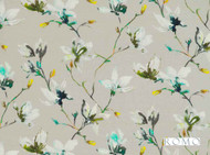 Romo - Saphira Jade  | Curtain & Upholstery fabric - Blue, Farmhouse, Floral, Garden, Natural Fibre, Domestic Use, Natural, Print, Standard Width, Watercolour