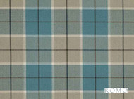 Romo - Bonham Peacock  | Curtain & Upholstery fabric - Blue, Traditional, Dry Clean, Check, Plaid, Fibre Blend, Standard Width