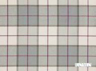 Romo - Bonham Swedish Grey  | Curtain & Upholstery fabric - Grey, Pink, Purple, Traditional, Dry Clean, Check, Plaid, Fibre Blend, Standard Width