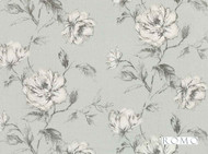 Romo - Cressida Lovat  | Curtain & Upholstery fabric - Linen/Linen Look, Blue, Floral, Garden, Botantical, Traditional, Dry Clean, Natural, Print