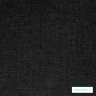 Warwick Naomi Liam Licorice  | Curtain & Upholstery fabric - Plain, Black - Charcoal, Synthetic, Washable, Commercial Use, Standard Width