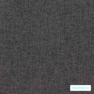 Warwick Oslo Charcoal    Upholstery Fabric - Grey, Plain, Synthetic, Washable, Commercial Use, Halo, Standard Width