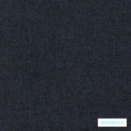 Warwick Oslo Navy  | Upholstery Fabric - Plain, Black - Charcoal, Synthetic, Washable, Commercial Use, Halo, Standard Width