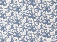 Villa Nova - Langley Chambray  | Curtain & Upholstery fabric - Blue, Farmhouse, Floral, Garden, Natural Fibre, Domestic Use, Natural, Print, Standard Width, Watercolour