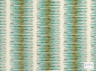 Zinc Textile - Coral Bay Lagoon  | Curtain & Upholstery fabric - Green, Contemporary, Ikat, Stripe, Rug, Dry Clean, Abstract, Decorative, Fibre Blend