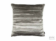 Zinc Textile - Penthouse Cushion - Mercury  | Cusion Fabric - Grey, Plain, Velvet/Faux Velvet, Domestic Use