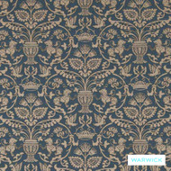 Warwick Sarafina French  | Upholstery Fabric - Brown, Art Noveau, Synthetic, Traditional, Washable, Domestic Use, Standard Width