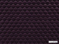 Kirkby Design - Cloud Blackcurrant  | Upholstery Fabric - Pink, Purple, Dry Clean, Geometric, Embroidery, Quilted, Velvets, Honeycomb, Fibre Blend