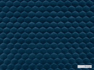 Kirkby Design - Cloud Kingfisher  | Upholstery Fabric - Blue, Dry Clean, Geometric, Embroidery, Quilted, Velvets, Honeycomb, Fibre Blend