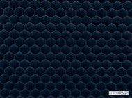 Kirkby Design - Cloud Marine  | Upholstery Fabric - Blue, Dry Clean, Geometric, Embroidery, Quilted, Velvets, Honeycomb, Fibre Blend, Standard Width