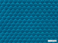 Kirkby Design - Cloud Pool  | Upholstery Fabric - Blue, Fibre Blends, Geometric, Honeycomb, Velvet/Faux Velvet, Domestic Use, Embroidery, Quilted, Standard Width
