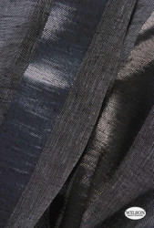 Wilson - Ariel - Metallic Smoke  | Upholstery Fabric - Blue, Grey, Black - Charcoal, Stripe, Synthetic, Domestic Use, Wide Width