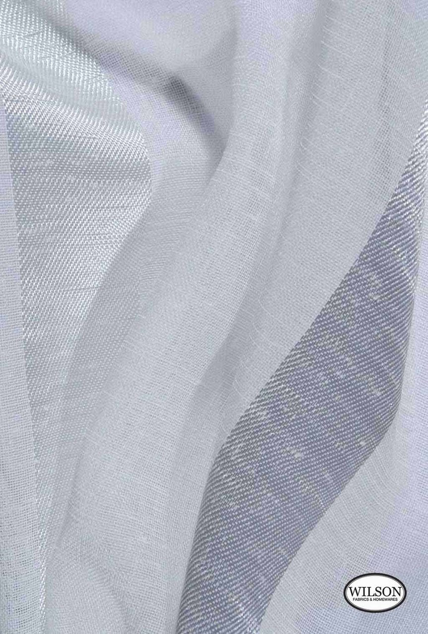 Wilson - Ariel - Mother Of Pearl  | Upholstery Fabric - Grey, Stripe, Synthetic, Domestic Use, Wide Width