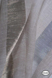 Wilson - Ariel - Silver Grey  | Upholstery Fabric - Grey, Silver, Stripe, Synthetic, Domestic Use, Wide Width