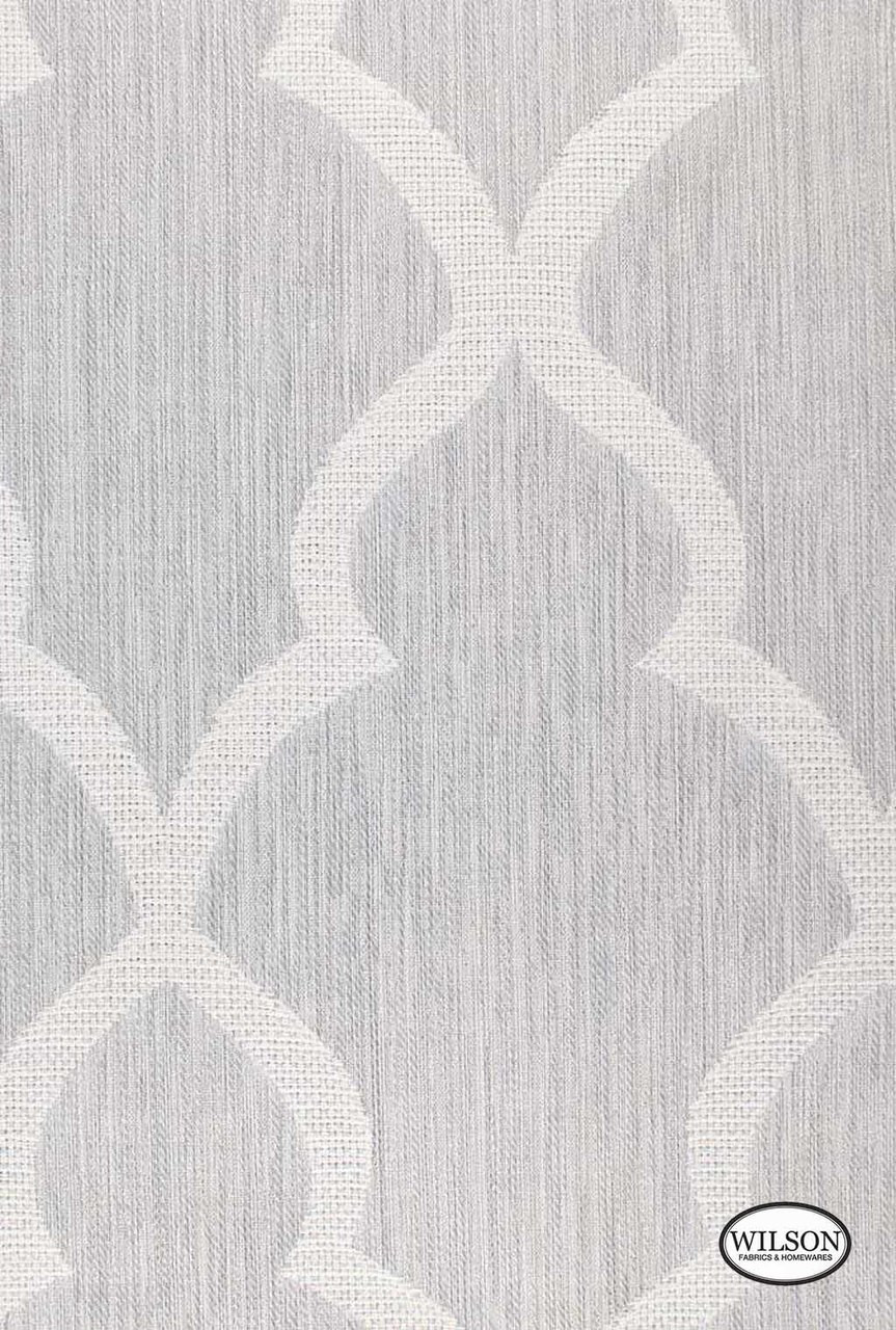 Wilson Linley Geo Light Grey Fabric For Curtains
