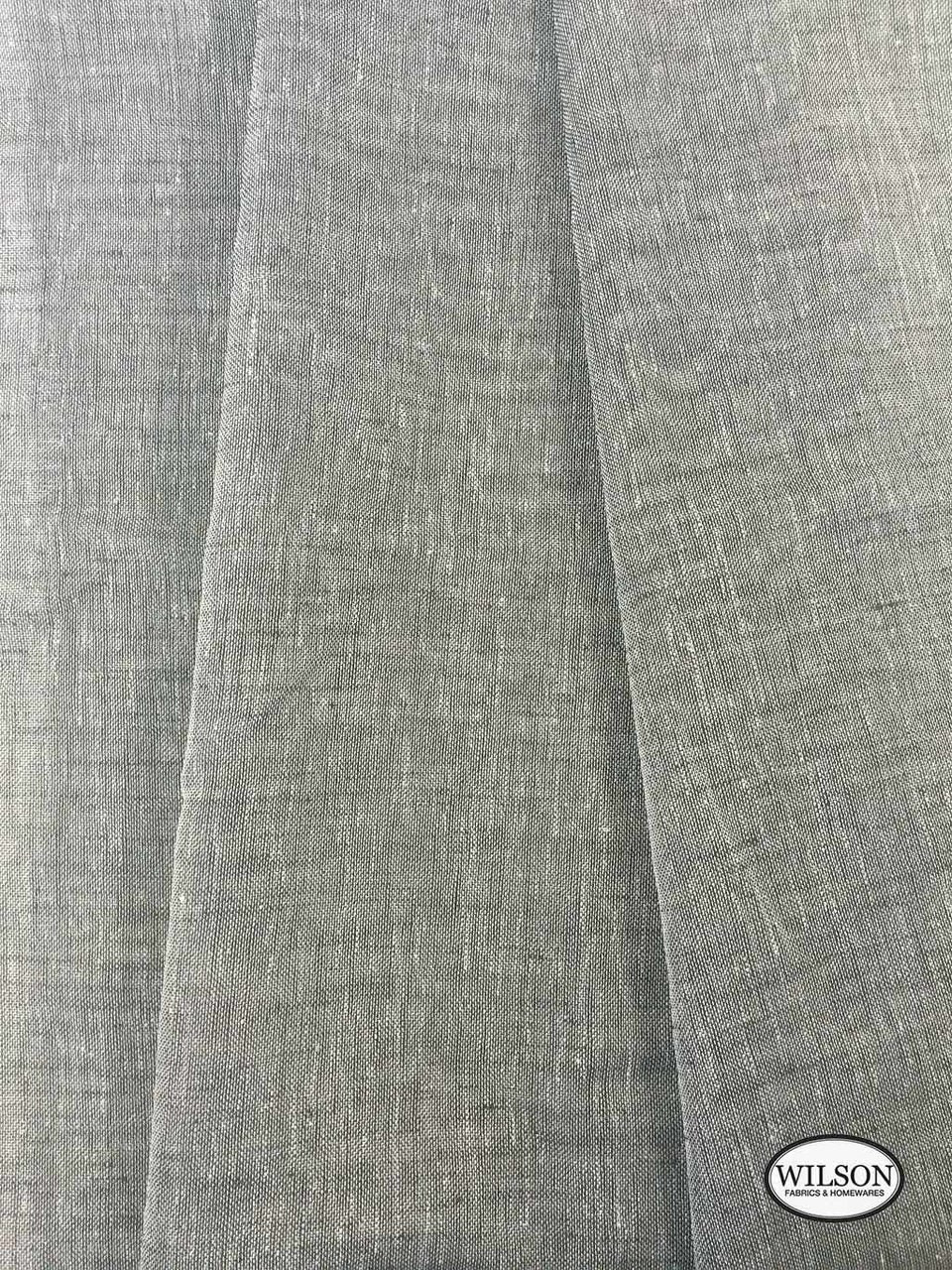 Wilson - Sabre - Charcoal    Upholstery Fabric - Grey, Plain, Synthetic, Domestic Use, Textured Weave, Plain - Textured Weave, Weighted Hem, Wide Width
