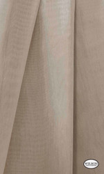 Wilson - Aruba Sheer - Chinchilla  | Curtain Sheer Fabric - Plain, Synthetic, Tan, Taupe, Domestic Use, Wide Width
