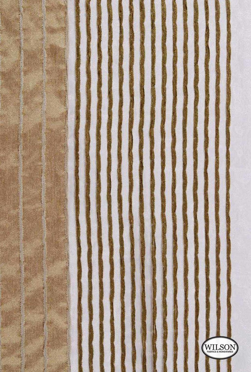 Wilson - Toby - Camel  | Upholstery Fabric - Stripe, Synthetic, Domestic Use