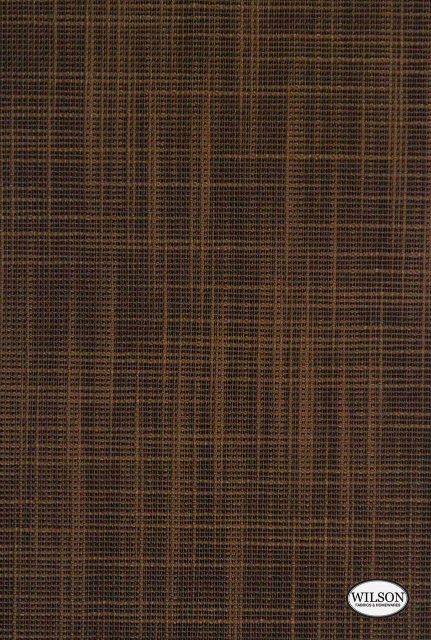 Wilson - Tuscany - Translucent - Earth  | - Stain Repellent, Brown, Plain, Synthetic, Textured Weave, Suitable for Blinds, Plain - Textured Weave, Strie