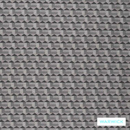 Warwick Titanium Galen Onyx  | Upholstery Fabric - Black - Charcoal, Geometric, Synthetic, Transitional, Washable, Domestic Use, Standard Width