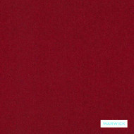 Warwick - Augustus Chili    Upholstery Fabric - Plain, Red, Commercial Use, Railroaded, Standard Width