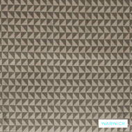 Warwick Titanium Volta Ore  | Upholstery Fabric - Brown, Fibre Blends, Geometric, Midcentury, Transitional, Washable, Commercial Use, Domestic Use, Standard Width