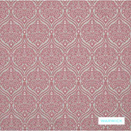 Warwick - Ashwick Coral  | Upholstery Fabric - Red, Floral, Garden, Ogee, Pink, Purple, Traditional, Domestic Use, Railroaded, Standard Width
