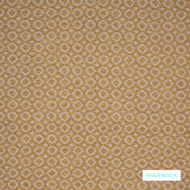 Warwick - Ayana Sunshine  | Upholstery Fabric - Brown, Diaper, Domestic Use, Dots, Spots, Railroaded, Standard Width, Circles
