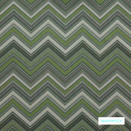Warwick - Circus Acid  | Curtain Fabric - Washable, Chevron, Zig Zag, Domestic Use, Railroaded, Standard Width, Flame Stitch