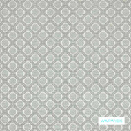 Warwick - Nolan Arctic  | Upholstery Fabric - Grey, Silver, Circlelink, Geometric, Small Scale, Domestic Use, Railroaded, Standard Width, Circles