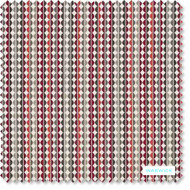 Warwick - Olley Coral - FOLY1CORA  | Upholstery Fabric - Red, Geometric, Multi-Coloured, Small Scale, Stripe, Domestic Use, Railroaded, Standard Width