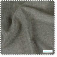 Warwick - Paros Sepia - FPR71SEPI  | Curtain Sheer Fabric - Grey, Plain, Washable, Domestic Use, Railroaded, Wide Width