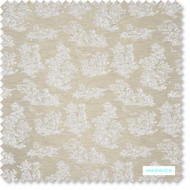 Warwick - Toinette Snow - FTO71SNOW  | Upholstery Fabric - Beige, Toile, Traditional, Transitional, Domestic Use, Figurative, Railroaded, Standard Width