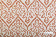 Elliott Clarke - Haven - Terracotta  | Curtain & Upholstery fabric - Terracotta, Damask, Synthetic, Traditional, Chevron, Zig Zag, Domestic Use, Dry Clean, Standard Width
