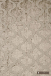James Dunlop Odyssey - Fawn  | Curtain Fabric - Silver, Deco, Decorative, Fibre Blends, Mediterranean, Moroccan, Ogee, Quatrefoil, Transitional, Velvet/Faux Velvet, Dry Clean