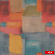 Ado - Blur - 8110-543  | Curtain Fabric - Gold,  Yellow, Red, Multi-Coloured, Synthetic, Abstract, Domestic Use, Railroaded, Wide Width, Watercolour