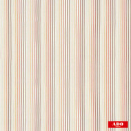 Ado - Colada - 3146-353  | Curtain Fabric - Beige, Red, Stripe, Synthetic, Traditional, Domestic Use, Railroaded, Wide Width