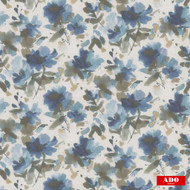 Ado - Lavinia - 2565-676  | Curtain Fabric - Blue, Grey, Floral, Garden, Synthetic, Domestic Use, Standard Width, Watercolour