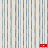 Ado - Lift - 3148-673  | Curtain Fabric - Blue, White, Stripe, Synthetic, Domestic Use, White, Railroaded, Wide Width