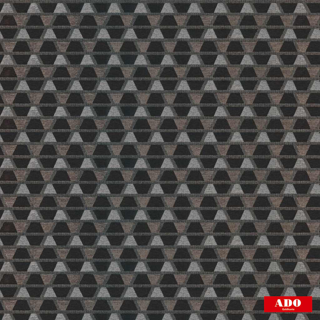 Ado - Mosaik - 1514-997  | Upholstery Fabric - Grey, Black - Charcoal, Geometric, Honeycomb, Synthetic, Diamond - Harlequin, Domestic Use, Standard Width, Triangles