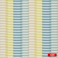 Ado - Vista - 8109-864  | Curtain Fabric - Blue, Gold,  Yellow, Contemporary, Stripe, Synthetic, Domestic Use, Railroaded, Wide Width