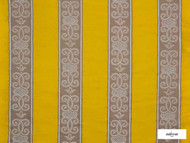 Ardecora - Duomo - 15376.183  | Curtain Fabric - Gold,  Yellow, Fibre Blends, Stripe, Traditional, Domestic Use, Standard Width, Rococo