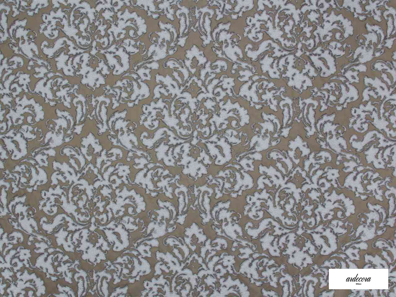 Ardecora - Foro - 15382.194  | Curtain Fabric - Brown, Grey, Damask, Fibre Blends, Domestic Use, Standard Width