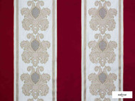 Ardecora - Manzoni - 15380.385  | Curtain Fabric - Red, Damask, Fibre Blends, Stripe, Traditional, Domestic Use, Standard Width, Rococo