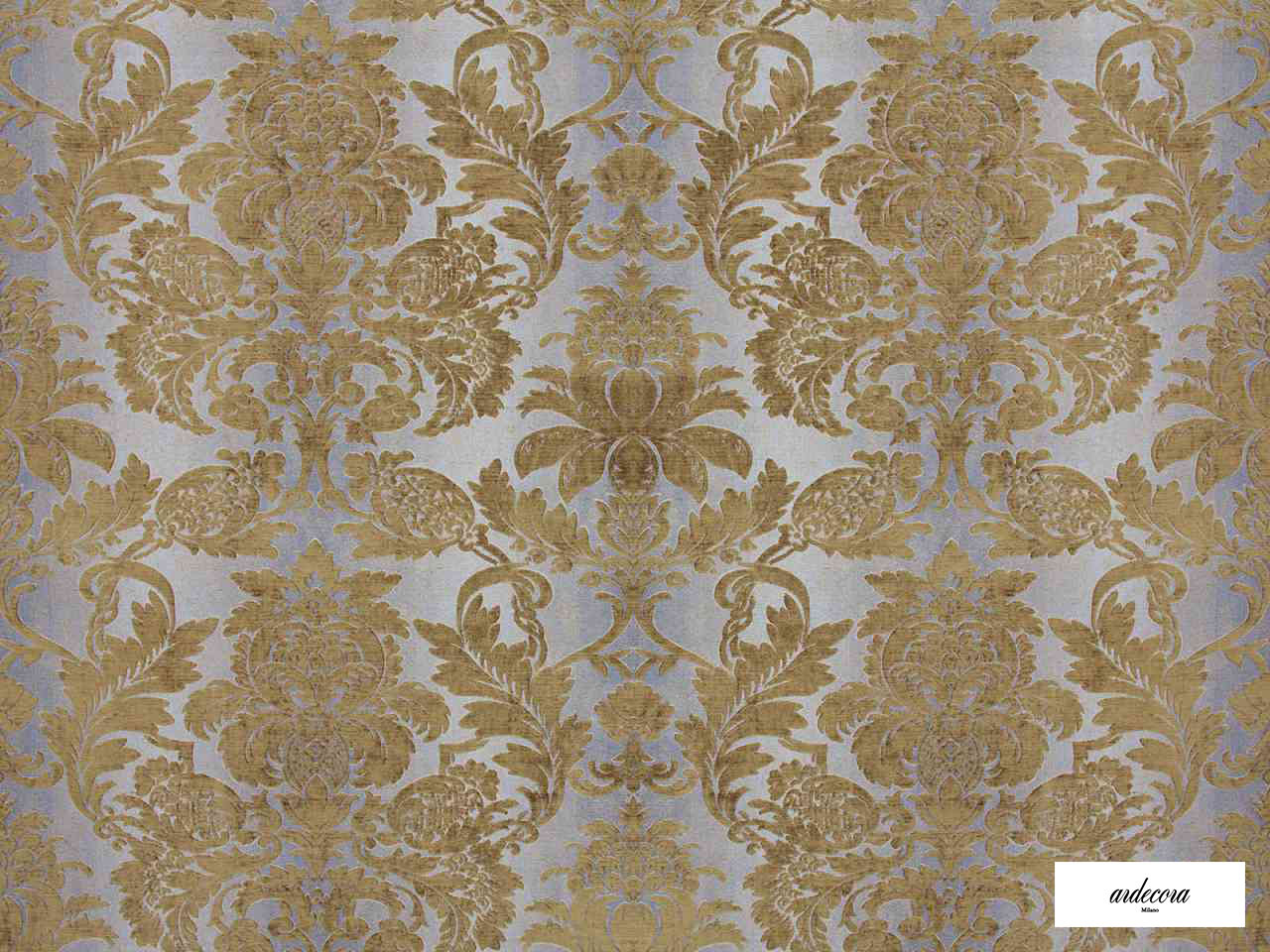 Ardecora - Olmetto - 15379.194  | Curtain Fabric - Brown, Damask, Synthetic, Traditional, Domestic Use, Standard Width, Rococo