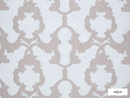 Ardecora - Porta Romana - 15373.983  | Curtain Fabric - Brown, White, Damask, Synthetic, Traditional, Domestic Use, White, Wide Width, Rococo