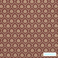 Warwick Winslow Aylesbury Bordeaux  | Curtain & Upholstery fabric - Brown, Damask, Diaper, Geometric, Mediterranean, Ogee, Traditional, Washable, Domestic Use, Standard Width