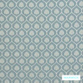 Warwick Winslow Aylesbury Duck Egg  | Curtain & Upholstery fabric - Blue, Damask, Diaper, Fibre Blends, Geometric, Mediterranean, Ogee, Traditional, Washable, Domestic Use
